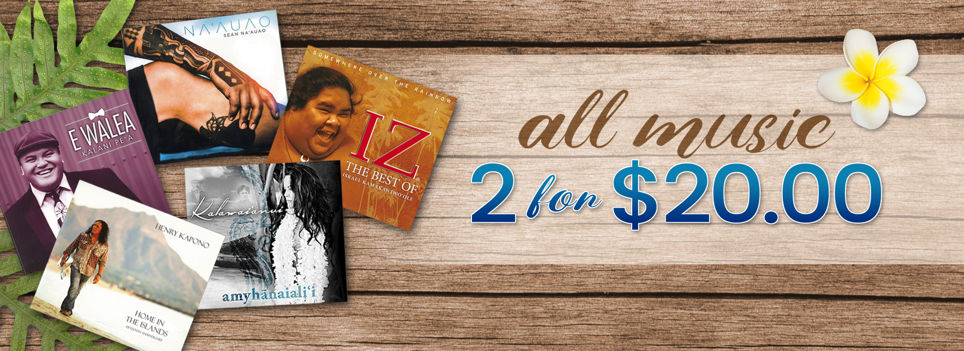 2 CD's for $20.00 sail!