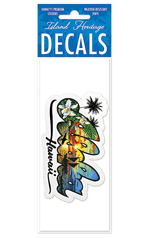 Large Decal Sticker The Aloha State Hawaii By Eddy Y