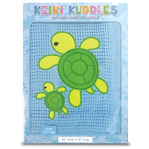 Welcome to the Islands Keiki Kreations Baby Blanket Honu Turtle