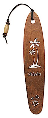 Wooden Bookmark Aloha Palm