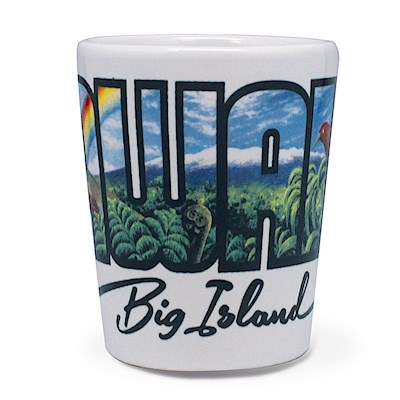 Ceramic Shot Glass - Big Island Hawai'i (Eddy Y)