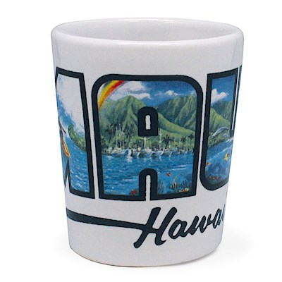 Ceramic Shot Glass - Maui Hawai'i (Eddy Y)