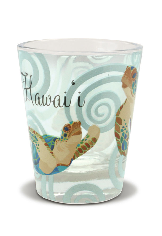 Short OPP Shot Glass, Honu