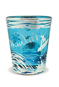 Foil Short Shot Glass, Surf Silhoutte