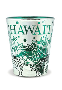 Foil Short Shot Glass, Honu Reef