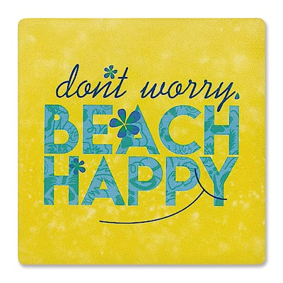 Individual Absorbent Coaster, Beach Happy