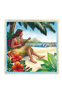 Cocktail Napkins 20-pk, Vintage Hawaii