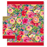 Paper Guest Hand Towel Hibiscus Impressions