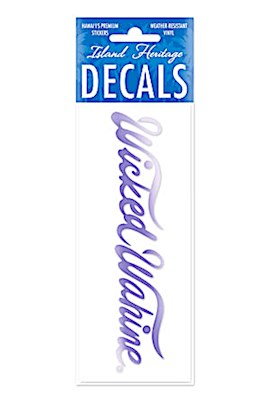 Decal Small Banner, Wicked Wahine Purple