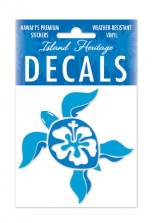 Decal Sticker Hibiscus Honu