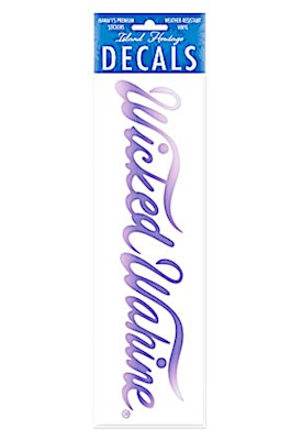 Decal Large Banner, Wicked Wahine Purple