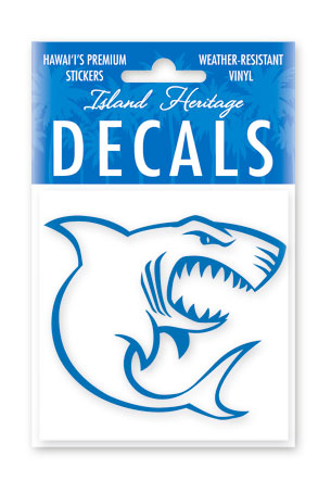 Decal Sticker Shark Blue Square