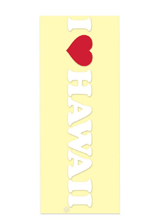 Decal Sticker I Love Hawaii - White