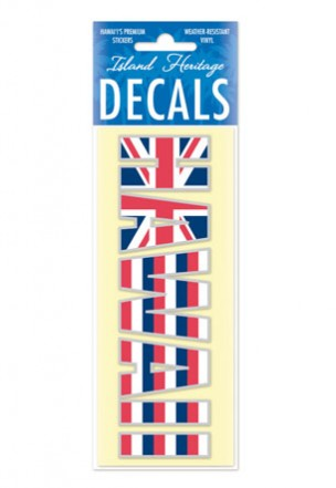 Decal Sticker Hawaii Flag Print
