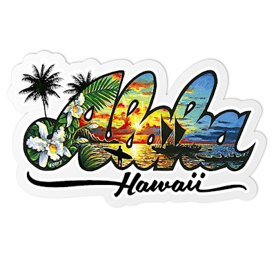 Decal Sticker Aloha - Hawaiʻi by Eddy Y