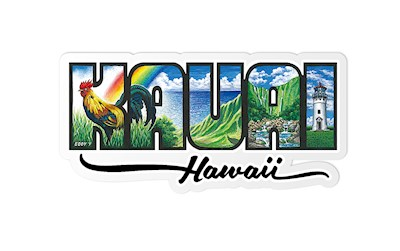 Decal Sticker Kauaʻi - Hawaiʻi by Eddy Y