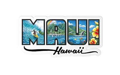 Decal Sticker Maui - Hawaiʻi by Eddy Y