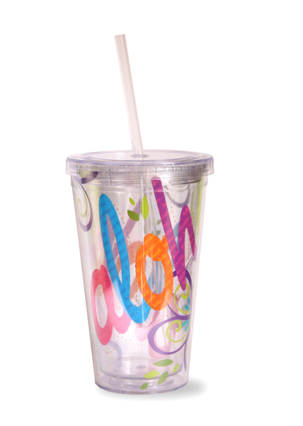 Travel Tumbler with  Straw Bold Aloha