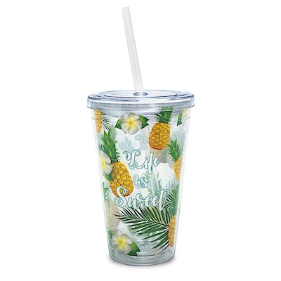 16 oz. Travel Tumbler with Straw, Life Is Sweet