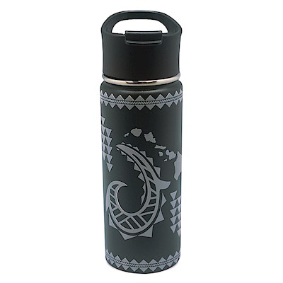 18.6 oz. Island Flask, Tribal Hook - Black