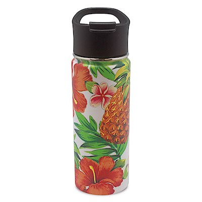18.6 oz. Island Flask, Tropical Pineapple - White