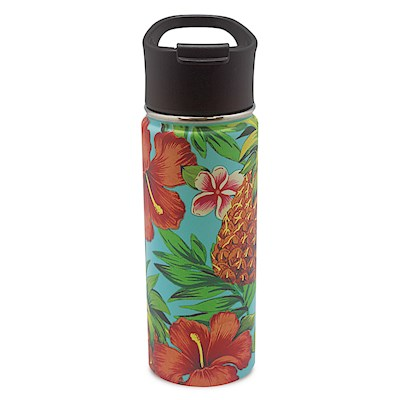Island Flask Tumbler, Tropical Pineapple - Teal