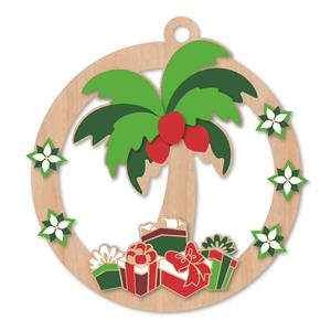 Wooden Ornament, Palm Tree