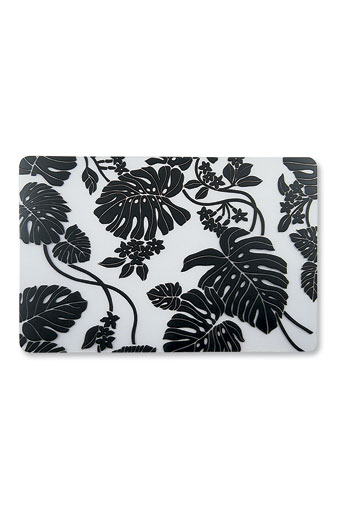 Translucent Placemat, Monstera - Black