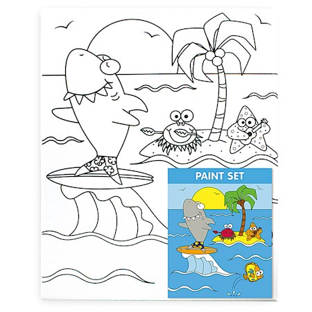 Canvas & Paint Set, Marine Adventures