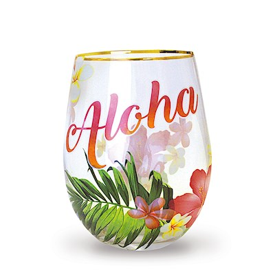 Aloha Palm Coastal Glassware