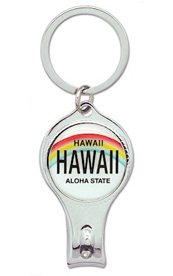 Nail Clipper Keychain,- License Plate - Hawaii -