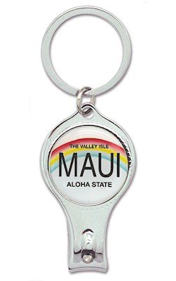 Nail Clipper Keychain, License Plate - Maui *