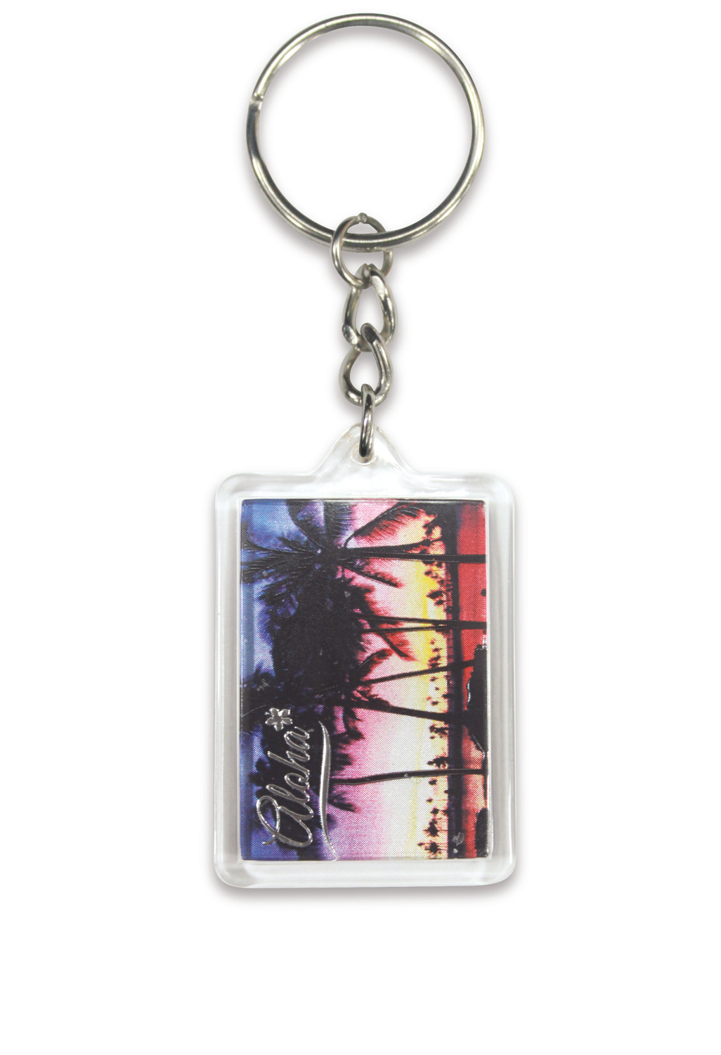 Die Cut Foil Keychain - Sunset