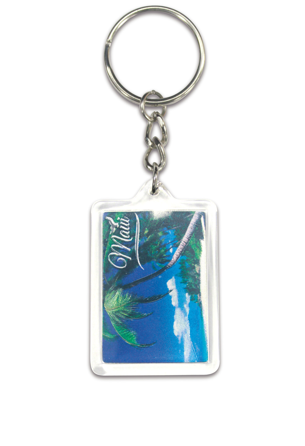 Die Cut Foil Keychain - Seaside Palm