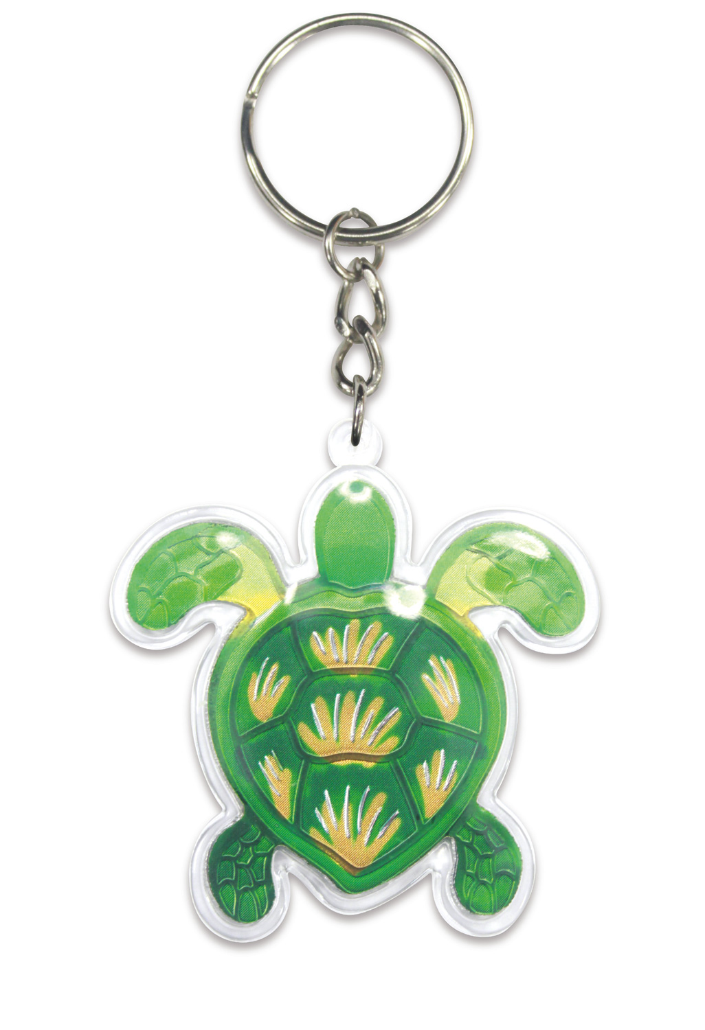 Die Cut Foil Keychain - Swimming Honu