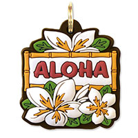 Key Cover White Plumeria (Aloha)