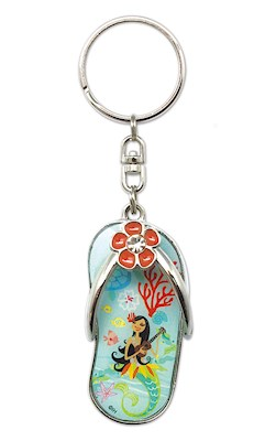 Metal Slipper Keychain - Island Hula Mermaids
