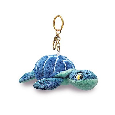 Plush Key Chain, Honu Blue