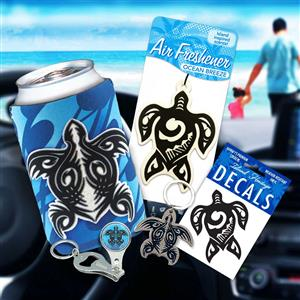 Tribal Honu Car Accessories Gift Set