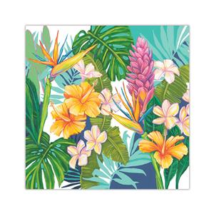 10 X 10 Lauren Roth Wall Art, Island Blossoms (Unsigned)