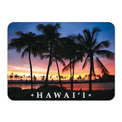 Die-Cut Tin Picture Magnet - Sunset