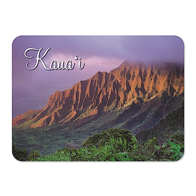 Die-Cut Tin Picture Magnet Kalalau Valley - Kauai