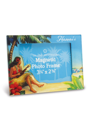 Photo Frame Magnet, Vintage Hawaii