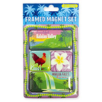 Framed Magnet Set 4-pk, Kauai Collection