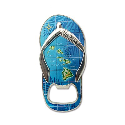 Foil Bottle Opener Magnet - Island Slipper