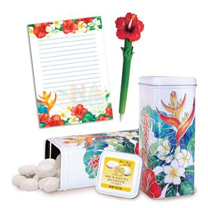 Island Garden Stationery & Macadamia Nut Tea Cookies Gift Set