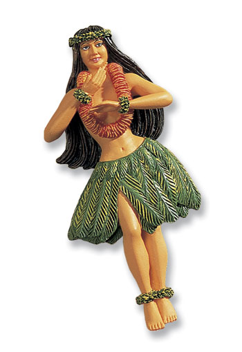Hand-Painted Magnet Hula Girl