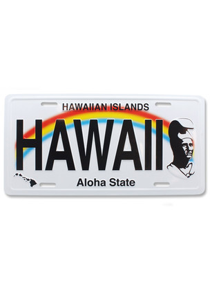 License Plate The King - Hawaii