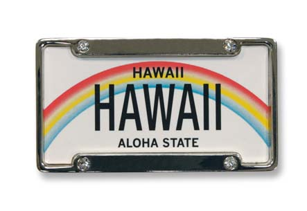 License plate metal magnets Hawaii License plate