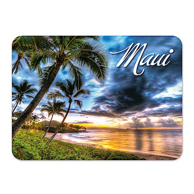 Die-Cut Tin Picture Magnet Maluaka Beach - Maui